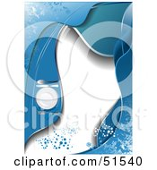 Royalty Free RF Clipart Illustration Of A Blue Menu Background With Waves Dots And A Table Setting by leonid