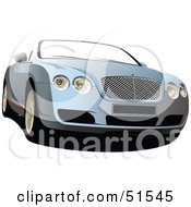 Royalty Free RF Clipart Illustration Of A Blue Convertible Car by leonid