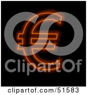 Royalty Free RF Clipart Illustration Of A Hot Euro Symbol by stockillustrations