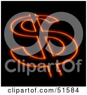 Royalty Free RF Clipart Illustration Of A Hot Dollar Symbol