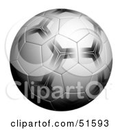 Royalty Free RF Clipart Illustration Of A Patterned Soccer Ball On White by stockillustrations