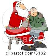 Boy Sitting On Santas Lap by djart