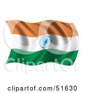 Wavy India Flag Version 1 by stockillustrations