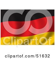 Royalty Free RF Clipart Illustration Of A Wavy Germany Flag Version 2 by stockillustrations