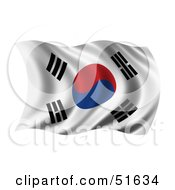 Wavy South Korea Flag Version 2 by stockillustrations