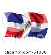 Wavy Dominican Republic Flag Version 2 by stockillustrations