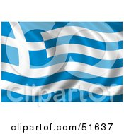 Wavy Greece Flag by stockillustrations