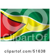 Wavy Guyana Flag by stockillustrations
