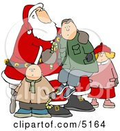 Children With Santa And Boy Sitting On His Lap by djart