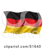 Royalty Free RF Clipart Illustration Of A Wavy Germany Flag Version 1 by stockillustrations