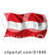 Wavy Austria Flag Version 2 by stockillustrations