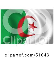 Wavy Algeria Flag by stockillustrations