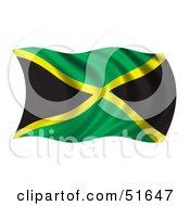 Wavy Jamaica Flag Version 1 by stockillustrations