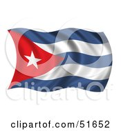 Wavy Cuba Flag Version 1 by stockillustrations