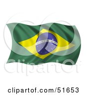 Wavy Brazil Flag Version 1 by stockillustrations