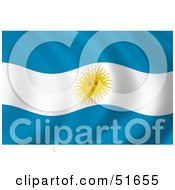 Wavy Argentina Flag Version 4 by stockillustrations