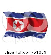 Wavy North Korea Flag Version 1 by stockillustrations