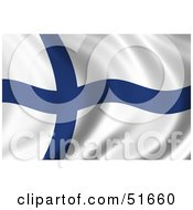 Wavy Finland Flag Version 1 by stockillustrations