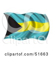 Wavy Bahamas Flag Version 1 by stockillustrations