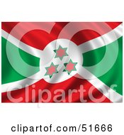 Wavy Burundi Flag by stockillustrations
