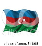 Wavy Azerbaijan Flag by stockillustrations