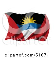 Wavy Antigua And Barbuda Flag Version 1 by stockillustrations