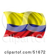 Wavy Colombia Flag by stockillustrations