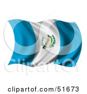 Wavy Guatemala Flag by stockillustrations
