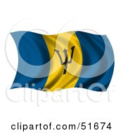 Wavy Barbados Flag by stockillustrations