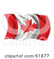 Wavy Canada Flag Version 1 by stockillustrations
