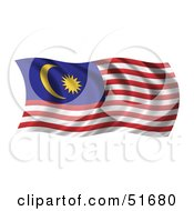 Wavy Malaysia Flag by stockillustrations