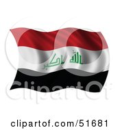 Wavy Iraq Flag Version 1 by stockillustrations