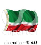 Wavy Chechnya Flag by stockillustrations