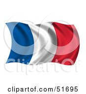 Wavy France Flag Version 2 by stockillustrations