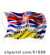 Royalty Free RF Clipart Illustration Of A Wavy British Columbia Flag by stockillustrations