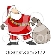 Santa Delivering Christmas Presents Clipart by djart