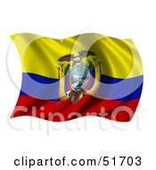Wavy Ecuador Flag by stockillustrations