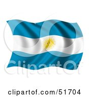 Wavy Argentina Flag Version 3 by stockillustrations