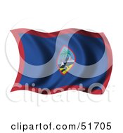 Wavy Guam Flag by stockillustrations