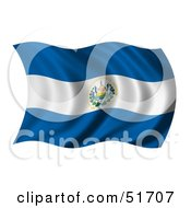 Wavy El Salvador Flag by stockillustrations