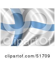 Wavy Finland Flag Version 2 by stockillustrations