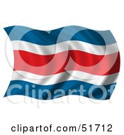 Wavy Costa Rica Flag Version 1 by stockillustrations