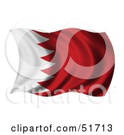 Wavy Bahrain Flag by stockillustrations