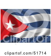 Royalty Free RF Clipart Illustration Of A Wavy Cuba Flag Version 2 by stockillustrations