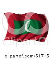 Wavy Maldives Flag Version 1 by stockillustrations