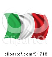 Wavy Italy Flag Version 2 by stockillustrations