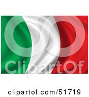 Royalty Free RF Clipart Illustration Of A Wavy Italy Flag Version 1 by stockillustrations