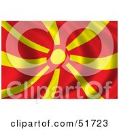 Wavy Macedonia Flag by stockillustrations