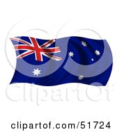 Wavy Australian Flag by stockillustrations