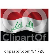 Royalty Free RF Clipart Illustration Of A Wavy Iraq Flag Version 2 by stockillustrations